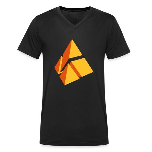 polymake Logo (2-farbig) - Men's Organic V-Neck T-Shirt by Stanley & Stella