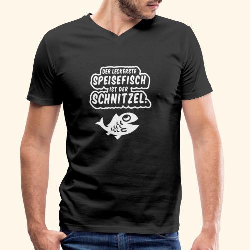 Schnitzelfisch das Original - Männer Bio-T-Shirt mit V-Ausschnitt von Stanley & Stella