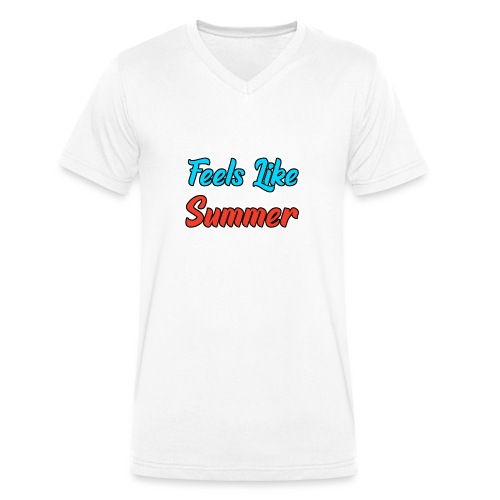 Feels Like Summer - Männer Bio-T-Shirt mit V-Ausschnitt von Stanley & Stella