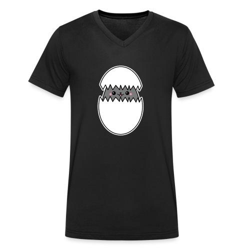 Katze im Ei - Männer Bio-T-Shirt mit V-Ausschnitt von Stanley & Stella