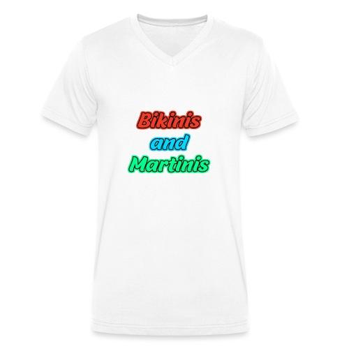 Bikinis & Martinis - Männer Bio-T-Shirt mit V-Ausschnitt von Stanley & Stella
