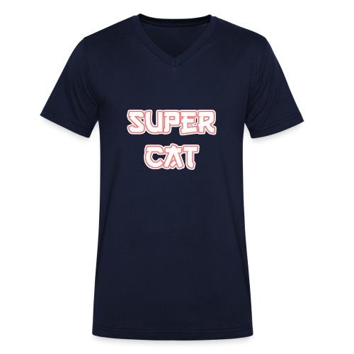Super Cat - Männer Bio-T-Shirt mit V-Ausschnitt von Stanley & Stella