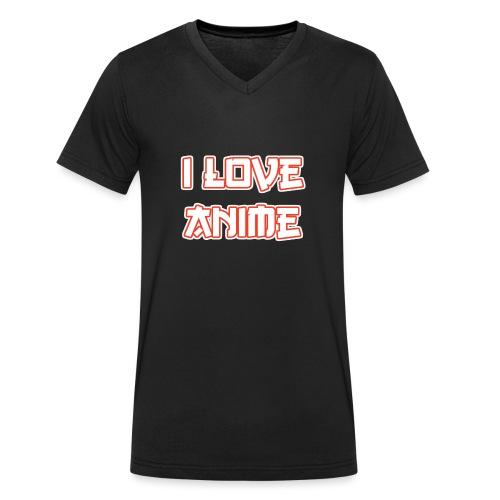 I Love Anime - Männer Bio-T-Shirt mit V-Ausschnitt von Stanley & Stella