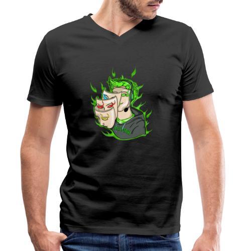 Seelenspiel Grün - Männer Bio-T-Shirt mit V-Ausschnitt von Stanley & Stella