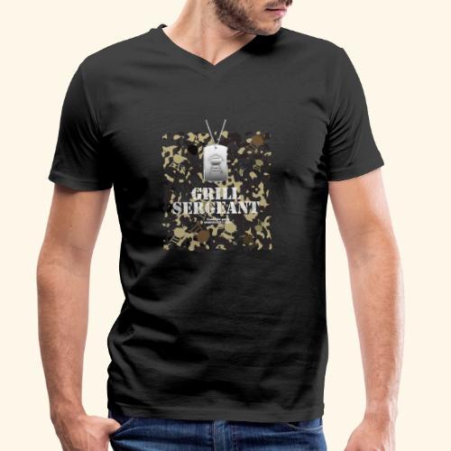 Grill Tshirt Design Grill Sergeant Grillen T-Shirt - Männer Bio-T-Shirt mit V-Ausschnitt von Stanley & Stella