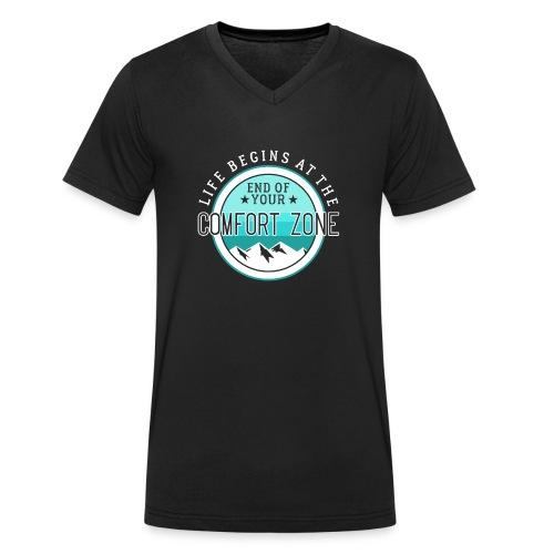Life Begins At The End Of Your Comfort Zone - Männer Bio-T-Shirt mit V-Ausschnitt von Stanley & Stella