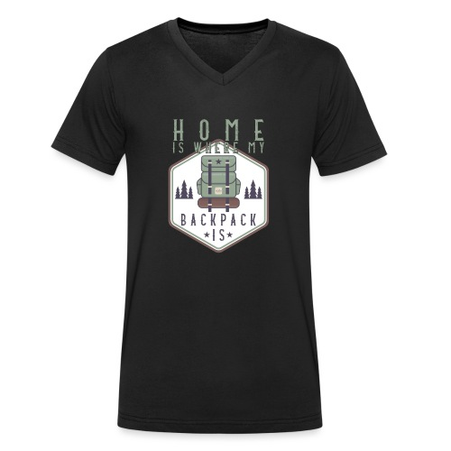Home Is Where My Backpack Is - Männer Bio-T-Shirt mit V-Ausschnitt von Stanley & Stella