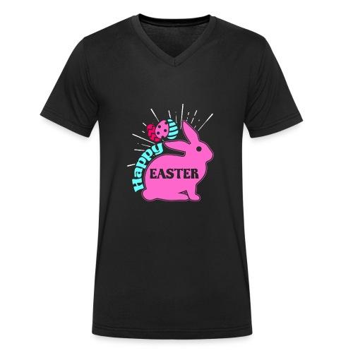 Happy Easter - Frohe Ostern - Männer Bio-T-Shirt mit V-Ausschnitt von Stanley & Stella