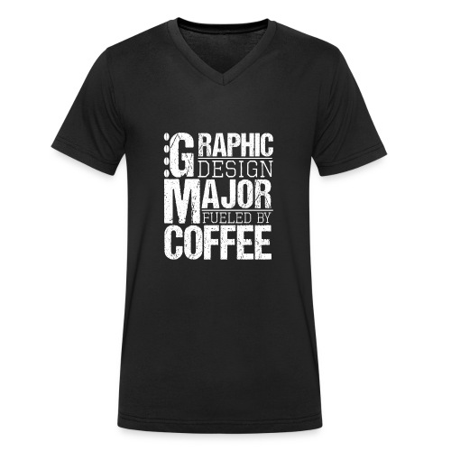 Graphic Design Major Fueled By Coffee - Männer Bio-T-Shirt mit V-Ausschnitt von Stanley & Stella
