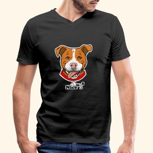 pitbull2 - T-shirt ecologica da uomo con scollo a V di Stanley & Stella