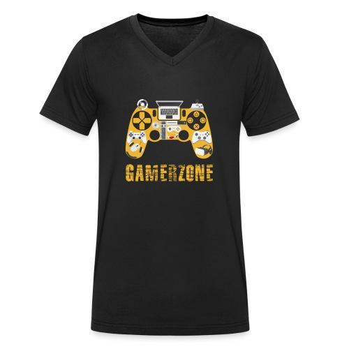 Gamerzone - Männer Bio-T-Shirt mit V-Ausschnitt von Stanley & Stella
