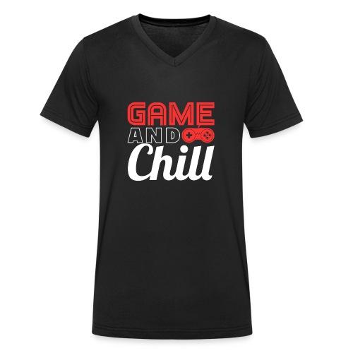 Game And Chill T-Shirt for Gamers - Männer Bio-T-Shirt mit V-Ausschnitt von Stanley & Stella