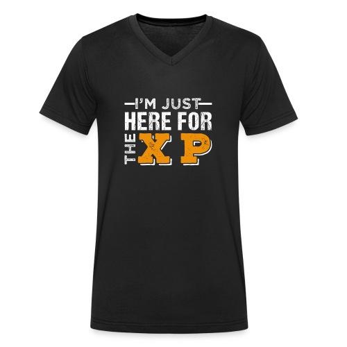 I'm Just Here For The XP | Gaming T-Shirt - Männer Bio-T-Shirt mit V-Ausschnitt von Stanley & Stella