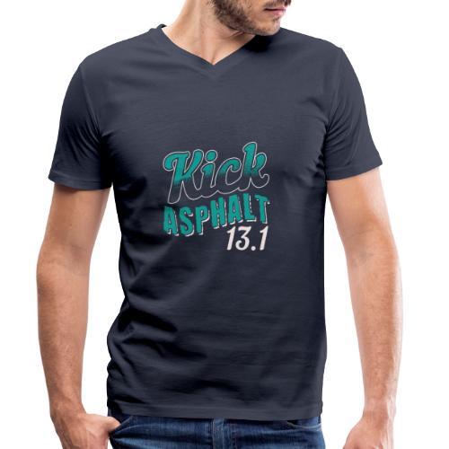 Kick Asphalt 13.1 | Half Marathon - Männer Bio-T-Shirt mit V-Ausschnitt von Stanley & Stella