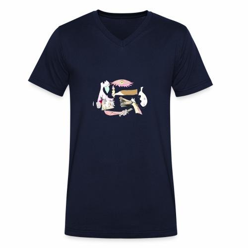Pintular - Camiseta ecológica hombre con cuello de pico de Stanley & Stella