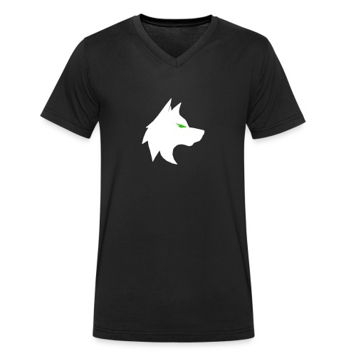 wolf png - Men's Organic V-Neck T-Shirt by Stanley & Stella
