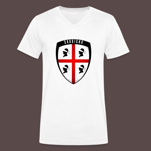Sardegna Stemma - T-shirt ecologica da uomo con scollo a V di Stanley & Stella
