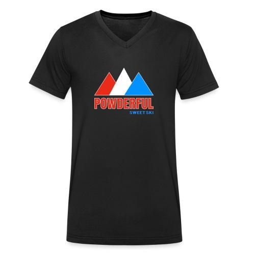 Powderful Sweet Ski - Männer Bio-T-Shirt mit V-Ausschnitt von Stanley & Stella