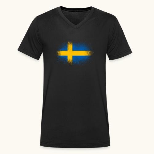 Suède cadeau drôle de drapeau suédois - T-shirt bio col V Stanley & Stella Homme