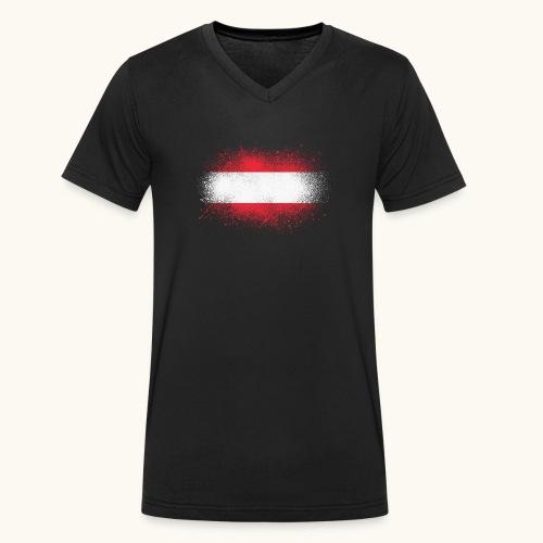 Österreich Grunge österreichische Flagge Geschenk - T-shirt bio col V Stanley & Stella Homme