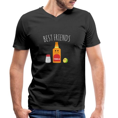 Best Friends - Tequila - Men's Organic V-Neck T-Shirt by Stanley & Stella
