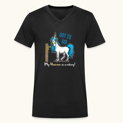 Dessin drôle de licorne disant bande dessinée cadeau - T-shirt bio col V Stanley & Stella Homme