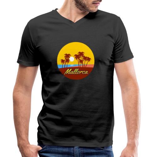 Mallorca - Als Geschenk oder Geschenkidee - Männer Bio-T-Shirt mit V-Ausschnitt von Stanley & Stella