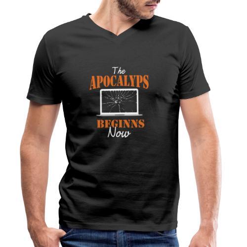 the Apokalyps beginns Now! - Männer Bio-T-Shirt mit V-Ausschnitt von Stanley & Stella