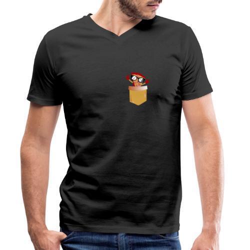 Tasca per amante della pizza - T-shirt ecologica da uomo con scollo a V di Stanley & Stella