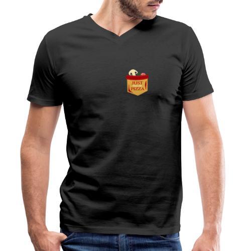 Bare mat meg pizza - Økologisk T-skjorte med V-hals for menn fra Stanley & Stella