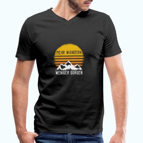 hike - Men's Organic V-Neck T-Shirt by Stanley & Stella