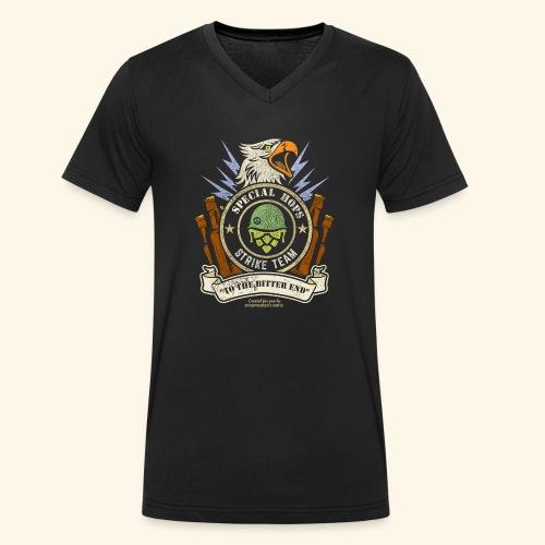 Craft Beer Fan T Shirt Special Hops Strike Team - Männer Bio-T-Shirt mit V-Ausschnitt von Stanley & Stella