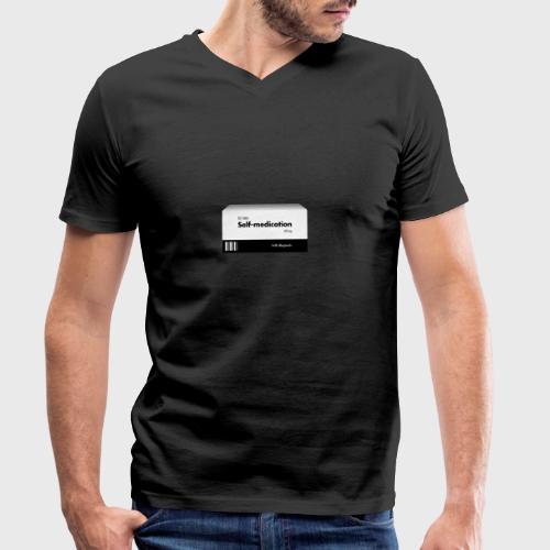 Self-medication - Mannen bio T-shirt met V-hals van Stanley & Stella