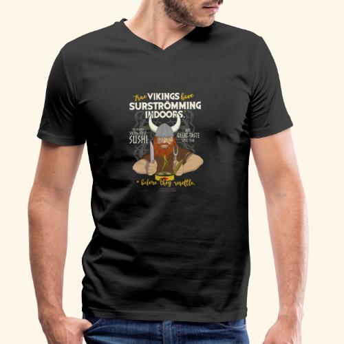 Indoors | Surströmming T-Shirts - Männer Bio-T-Shirt mit V-Ausschnitt von Stanley & Stella