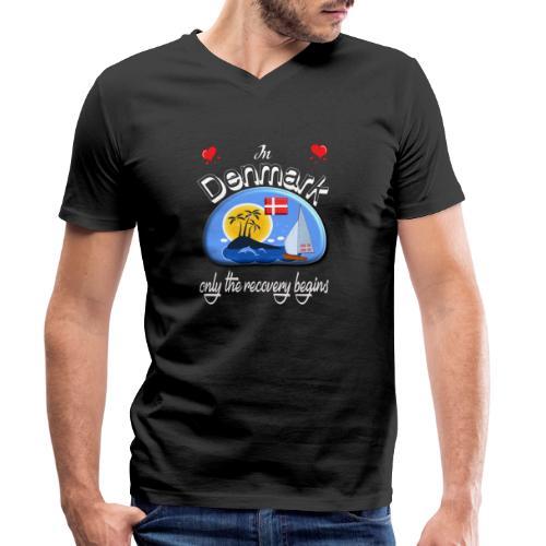 Urlaub, Dänemark, Ferien, dänisch lernen, Nordsee - Männer Bio-T-Shirt mit V-Ausschnitt von Stanley & Stella