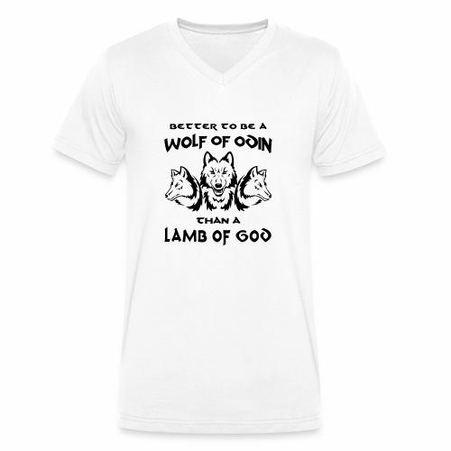 Wolf of Odin - Camiseta ecológica hombre con cuello de pico de Stanley & Stella