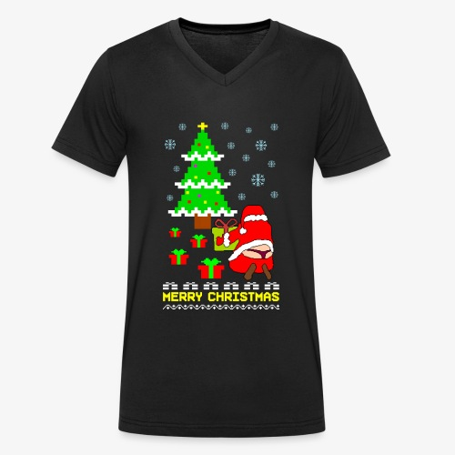 Merry Christmas Santa Tanga Ugly Xmas - Männer Bio-T-Shirt mit V-Ausschnitt von Stanley & Stella