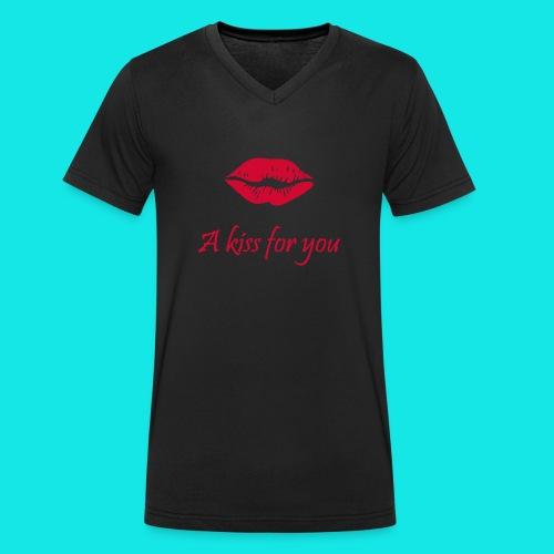 2A Kiss for you - Männer Bio-T-Shirt mit V-Ausschnitt von Stanley & Stella