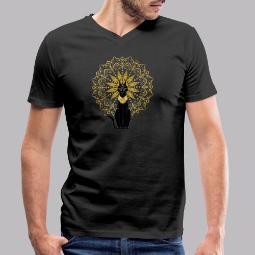 Golden Bastet - T-shirt ecologica da uomo con scollo a V di Stanley & Stella