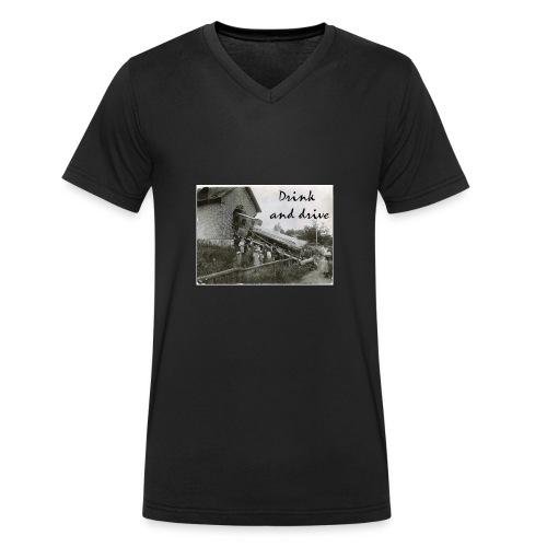 drink and drive - Ekologisk T-shirt med V-ringning herr från Stanley & Stella