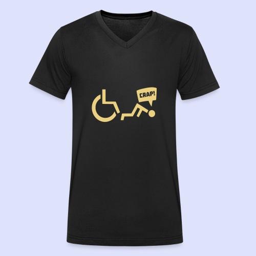 Soms heb je pech en val je uit je rolstoel - Mannen bio T-shirt met V-hals van Stanley & Stella