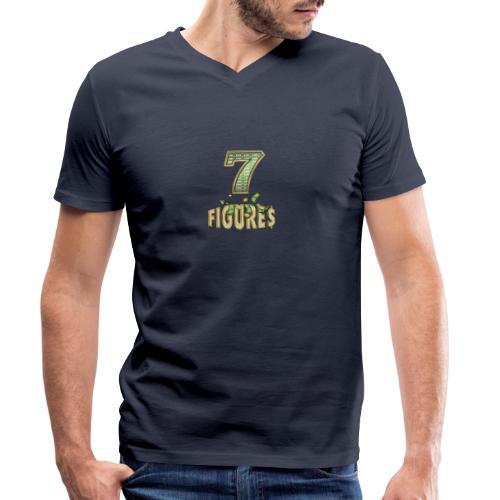 7 figures - Ekologisk T-shirt med V-ringning herr från Stanley & Stella