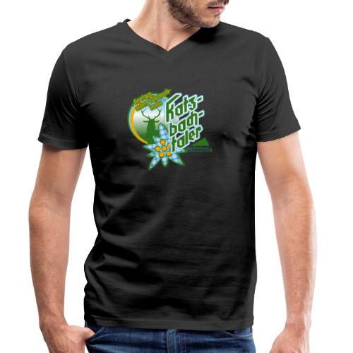 Katzbachtaler - Männer Bio-T-Shirt mit V-Ausschnitt von Stanley & Stella