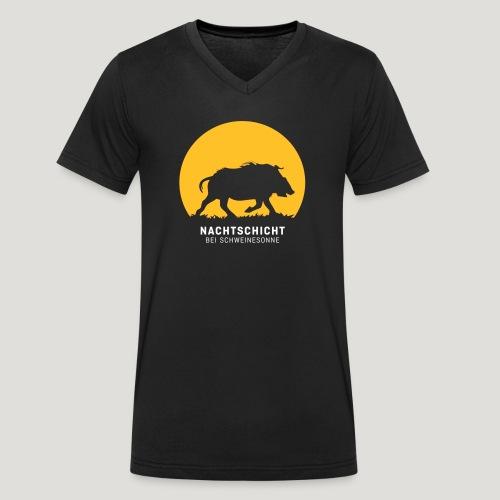 Nachtschicht bei Schweinesonne! Jäger Shirt Jaeger - Männer Bio-T-Shirt mit V-Ausschnitt von Stanley & Stella