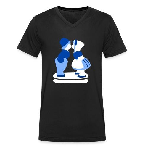 holländisches Pärchen koninginnedag t-shirt - Männer Bio-T-Shirt mit V-Ausschnitt von Stanley & Stella