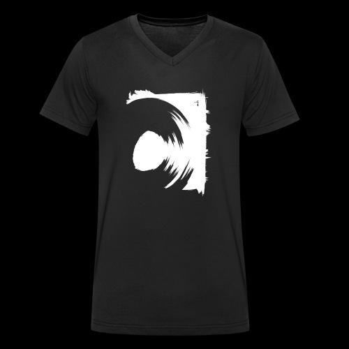 wirowania (biały) - Ekologiczna koszulka męska z dekoltem w serek Stanley & Stella