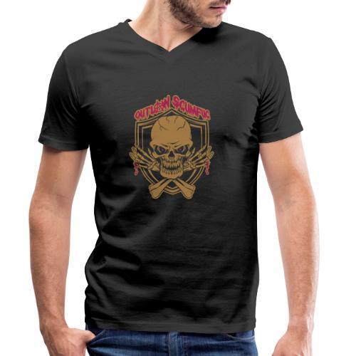 Outlaw Scumfuc - Männer Bio-T-Shirt mit V-Ausschnitt von Stanley & Stella