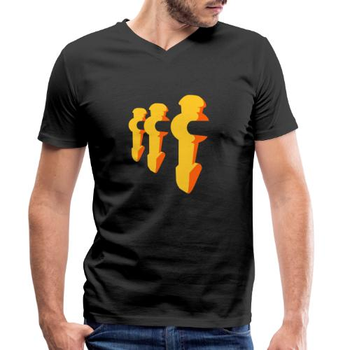 Kickerfiguren - Kickershirt - Männer Bio-T-Shirt mit V-Ausschnitt von Stanley & Stella