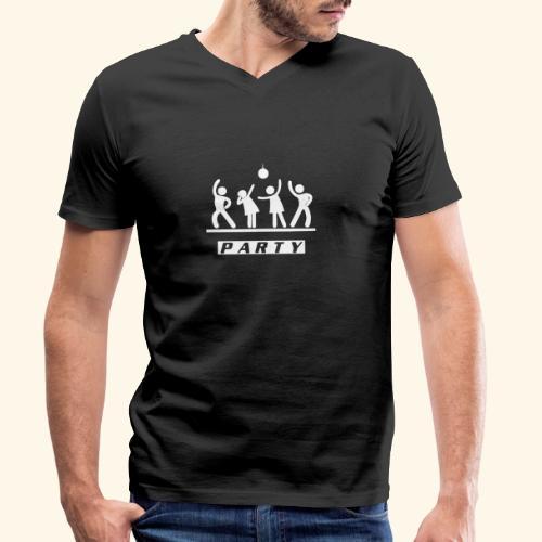 Party - Männer Bio-T-Shirt mit V-Ausschnitt von Stanley & Stella