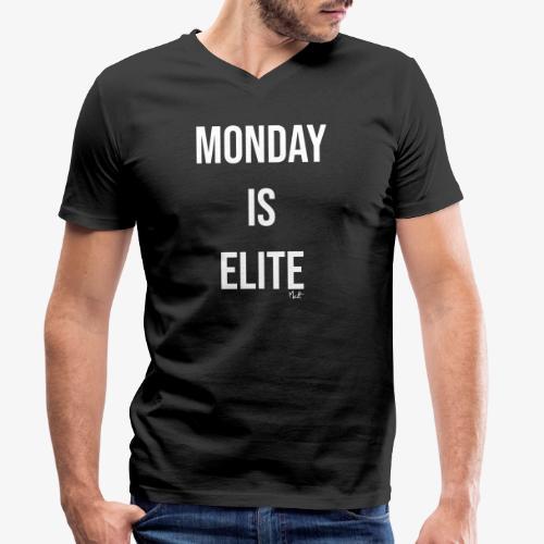 monday is elite - T-shirt ecologica da uomo con scollo a V di Stanley & Stella